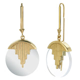 AURORA PENDULUM EARRINGS QUARTZ - GOLD
