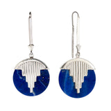 AURORA PENDULUM EARRINGS - sterling silver with lapis lazuli by tiger frame jewellery