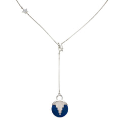 AURORA PENDULUM NECKLACE sterling silver with lapis lazuli by tiger frame jewellery