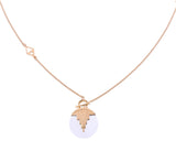 AURORA PENDULUM NECKLACE - QUARTZ - MEDIUM - GOLD