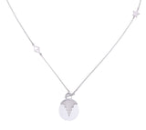 AURORA PENDULUM NECKLACE - QUARTZ - MEDIUM - SILVER