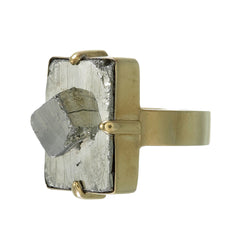 BIG PYRITE RING - GOLD