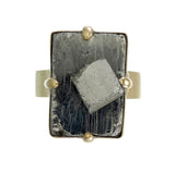 BIG PYRITE RING - GOLD plated sterling silver by tiger frame jewellery