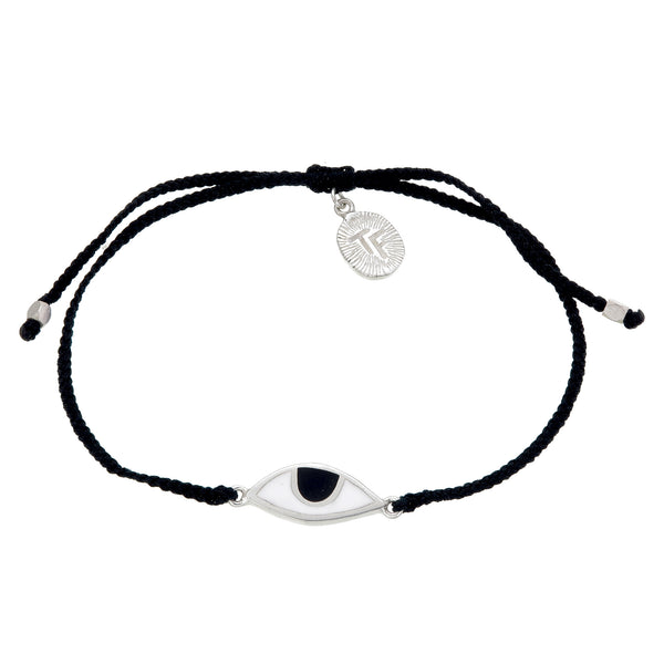 EYE PROTECTION BRACELET - BLACK - sterling silver by tiger frame jewellery