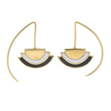 ECLIPSE EARRINGS - BLACK - GOLD