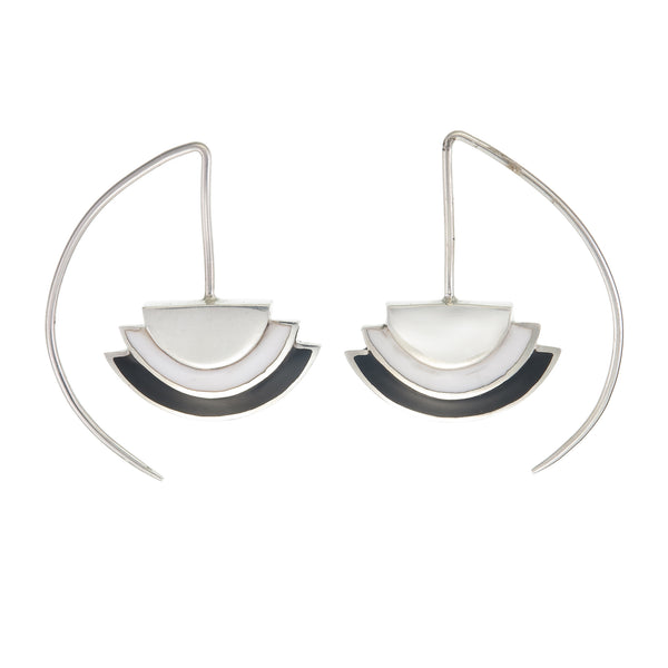 ECLIPSE EARRINGS - BLACK - sterling silver by tiger frame jewellery