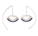 ECLIPSE EARRINGS - NAVY - sterling silver by tiger frame jewellery