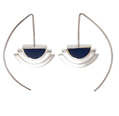 ECLIPSE EARRINGS - NAVY - SILVER