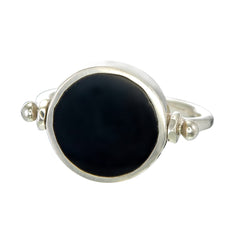 ECLIPSE SWIVEL RING - BLACK - sterling silver by tiger frame jewellery