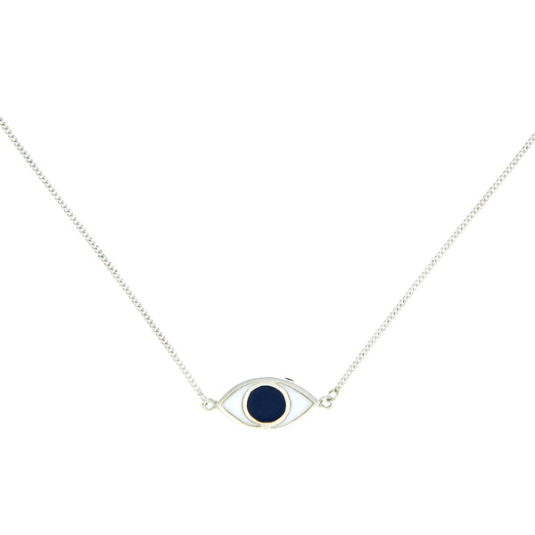 EYE SPY NECKLACE - BLUE - sterling silver by tiger frame jewellery