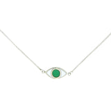 EYE SPY NECKLACE - GREEN - STERLING silver by tiger frame jewellery