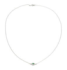 EYE SPY MINI NECKLACE - GREEN - STERLING silver by tiger frame jewellery