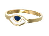 EYE SPY RING - NAVY - gold plate on sterling silver by tiger frame jewellery