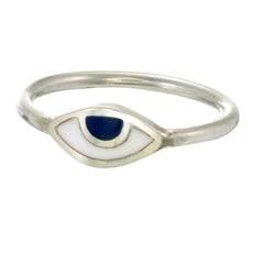 EYE SPY RING - NAVY - sterling silver by tiger frame jewellery