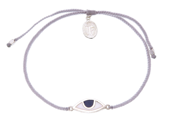 EYE PROTECTION BRACELET - PASTEL GREY - Sterling silver by tiger frame jewellery