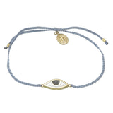 EYE PROTECTION BRACELET - PASTEL GREY - GOLD plated sterling silver by tiger frame jewellery