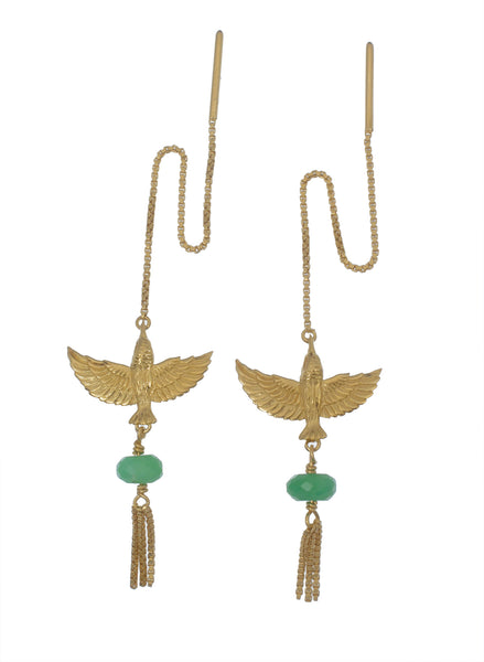 INFLIGHT PULL THROUGH  -CHRYSOPRASE- GOLD