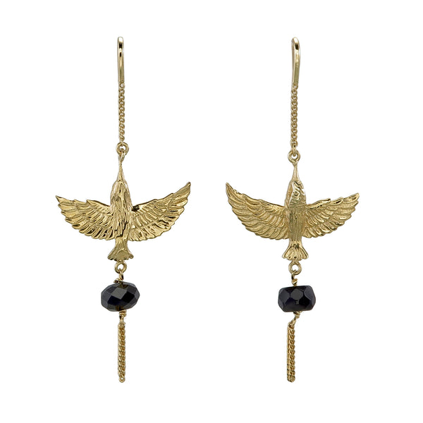INFLIGHT PULL THROUGH - ONYX - gold plate on sterling silver by tiger frame jewellery