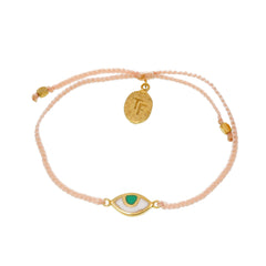 KIDS EYE PROTECTION BRACELET - PALE PINK - GOLD