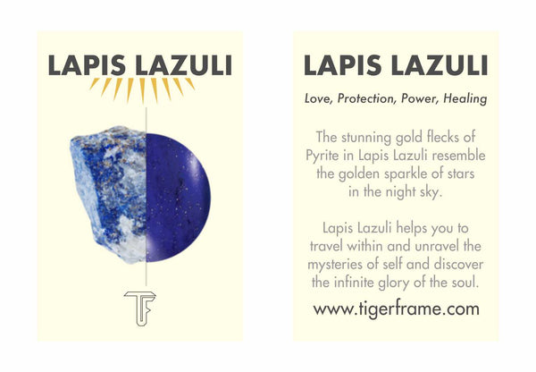 ROPE BEZEL PULL THROUGH EARRINGS LAPIS LAZULI - GOLD