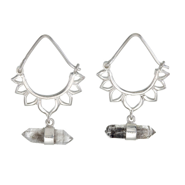 LOTUS CRYSTAL EARRINGS - sterling silver by tiger frame jewellery