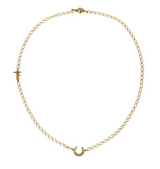 LUCKY - SHORT NECKLACE - GOLD