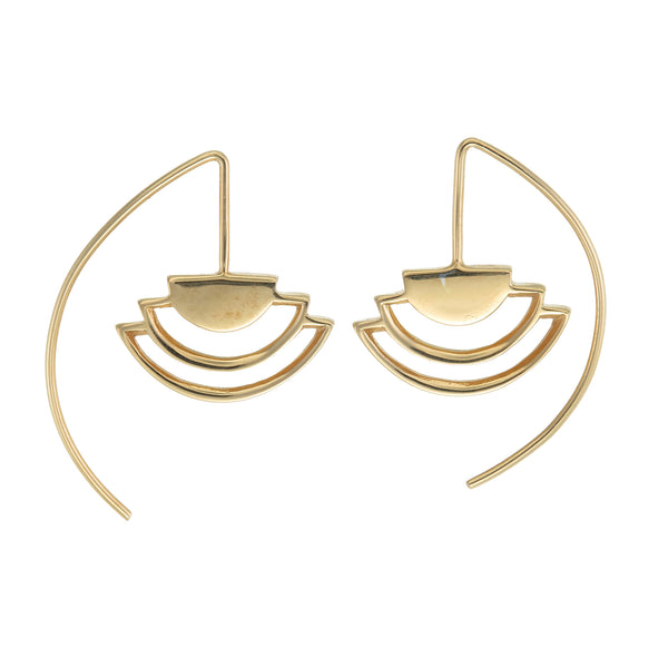 MINI ECLIPSE EARRINGS - GOLD PLATE ON sterling silver by tiger frame jewellery