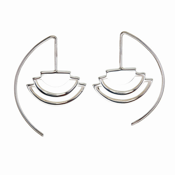 MINI ECLIPSE EARRINGS - sterling silver by tiger frame jewellery