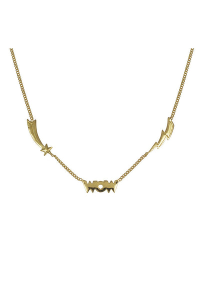 MINI WOW NECKLACE - gold plate on Sterling silver by tiger frame jewellery