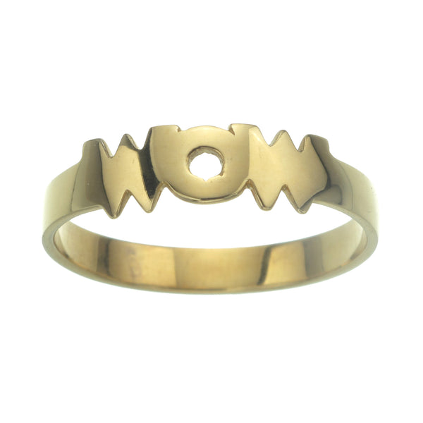 MINI WOW RING - GOLD plate on sterling silver by tiger frame jewellery