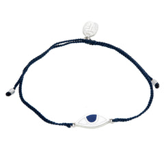 EYE PROTECTION BRACELET- NAVY- SILVER