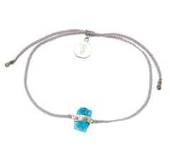 APATITE CRYSTAL PASTEL GREY BRACELET with sterling silver by tiger frame jewellery