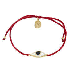 EYE PROTECTION BRACELET - RED - GOLD plated sterling silver by tiger frame jewellery