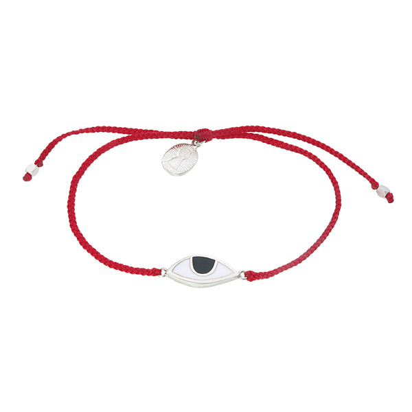 EYE PROTECTION BRACELET- RED - SILVER