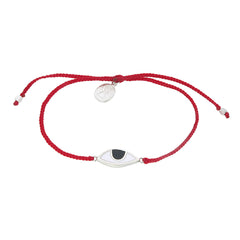 EYE PROTECTION BRACELET- RED- SILVER