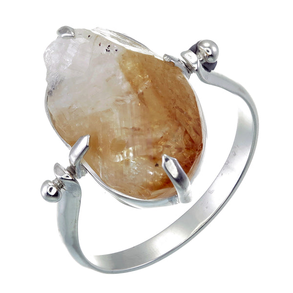 CITRINE SWIVEL RING - sterling silver by tiger frame jewellery