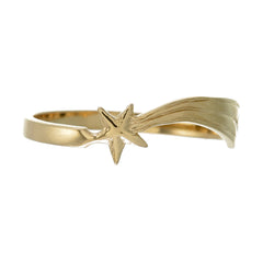 SHOOTING STAR RING - GOLD plate on sterling silver by tiger frame jewellery