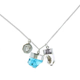 SUPERPOWER CHARM- APATITE & DIAMOND QUARTZ - sterling silver by tiger frame jewellery