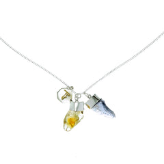 SUPERPOWER CHARM NECKLACE - CITRINE & IOLITE - STERLING silver by tiger frame jewellery