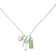 SUPERPOWER CHARM NECKLACE - GREEN TOURMALINE & SCAPOLITE -  sterling silver by tiger frame jewellery