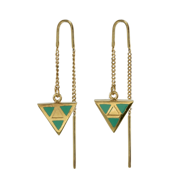 TRIANGLE PULL THROUGH - GREEN - GOLD