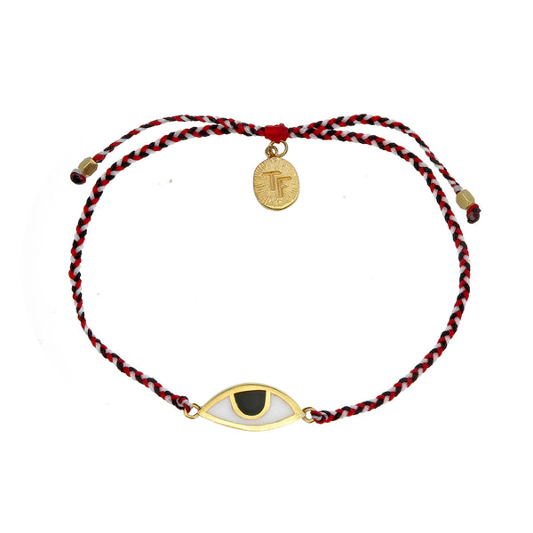 EYE PROTECTION BRACELET - TRIDATU - GOLD plated sterling silver by tiger frame jewellery