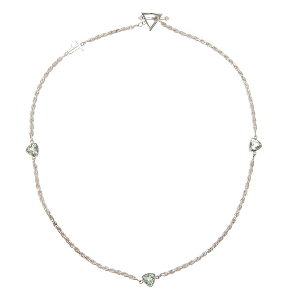 TRILLIONS AND TRILLIONS - GREEN AMETHYST - sterling silver by tiger frame jewellery