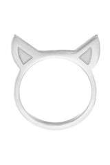 TIGERS EARS RING - SILVER
