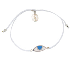 EYE PROTECTION BRACELET - WHITE - STERLING silver by tiger frame jewellery