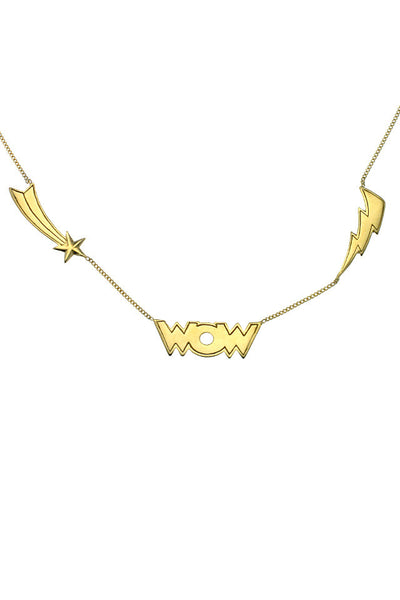 WOW NECKLACE - Gold plated sterling silver by tiger frame jewellery