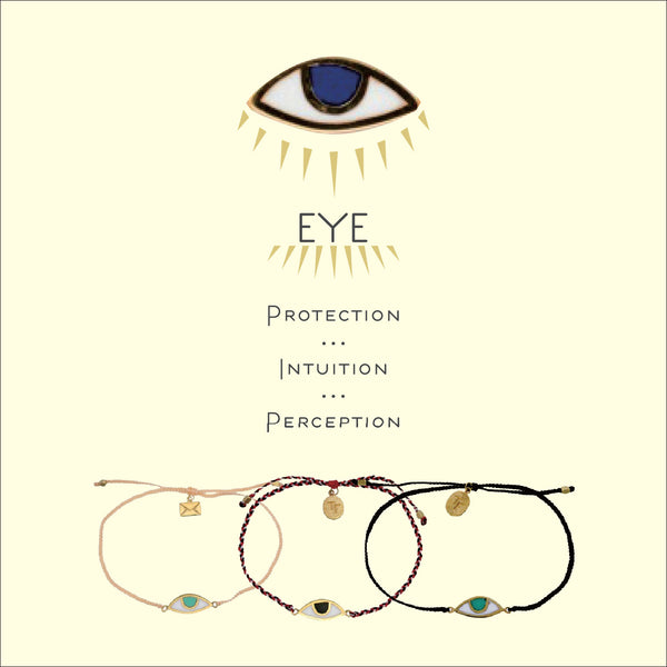 EYE PROTECTION BRACELET - PASTEL GREY - GOLD