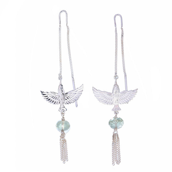 INFLIGHT  PULL THROUGH EARRINGS - Silver