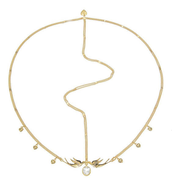 KISSING IN THE SKY HEADPIECE - Gold