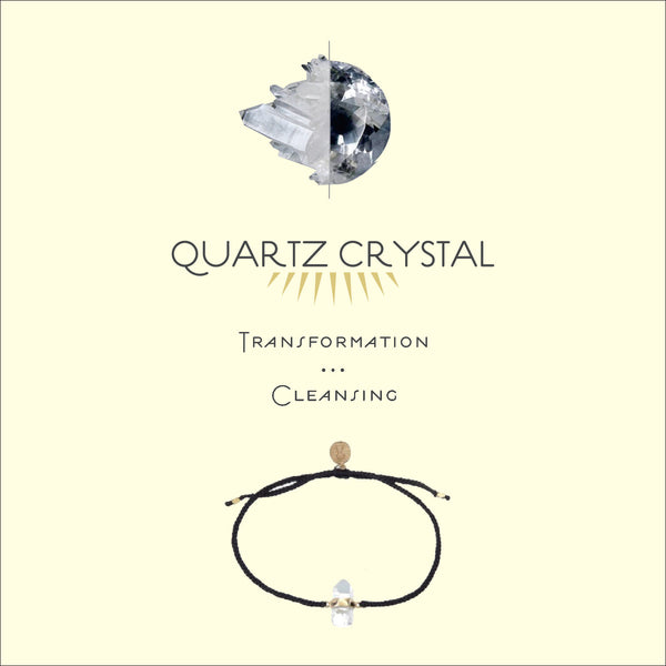 QUARTZ CRYSTAL BRACELET - BLACK - sterling silver by tiger frame jewellery